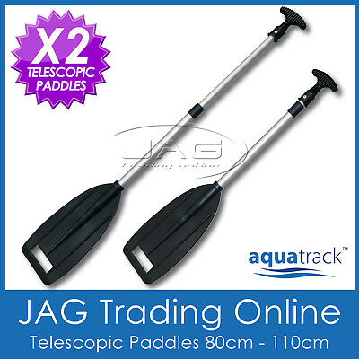 2 x H/DUTY TELESCOPIC ALUMINIUM OARS PADDLES - Boat/Kayak/Canoe/Inflatable/PWC