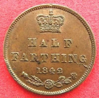1842 - Victoria - Half Farthing - Young Head - A/UNC - SN8124