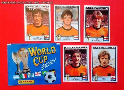 Panini Wc Argentina 78 - 5 Extrastickers Nederland 1978 - Mint