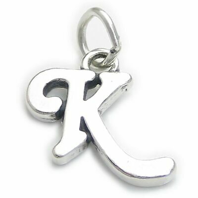 Script Letter D Initial sterling silver charm .925 x 1 Letters charms CF7032