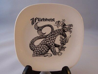 Vintage Crown Devon Pin Dish Uilebheist Monster 3 Heads Dragon Fielding England