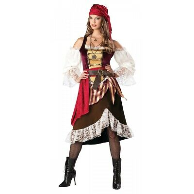 Pirate Costume for Women Adult Gypsy Wench Halloween Fancy Dress