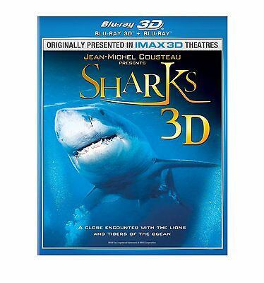 IMAX SHARKS BLU RAY 3D + BLU RAY VERSION NEW! OCEAN, GREAT WHITE, WHALE, HAMMER