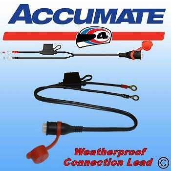 Optimate Accumate Tm71 Weatherproof  Permanent Battery Charger Connection Lead