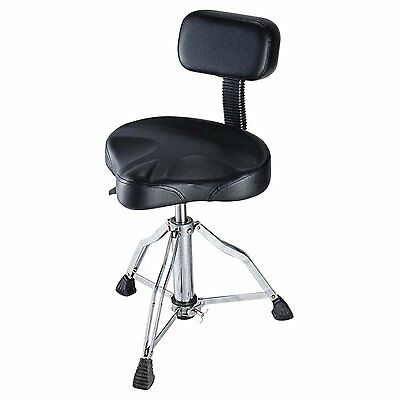 DB Musical Drum Stool Pneumatic, Back Rest And Hydraulic Gas Lift DTRAB-1118