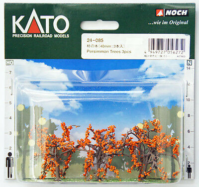 Kato 24-085 Persimmon Trees 3pcs 40mm (Scenery Trees) (N scale)