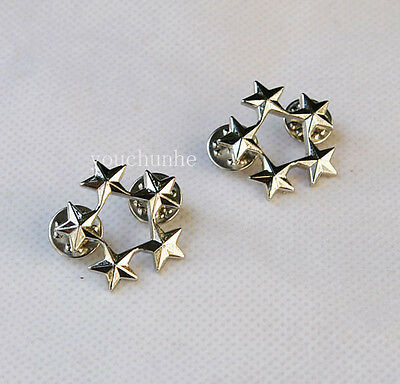Ww2 A Pair Of Us Army Officer 5 Star General Rank Badges Pin -32062