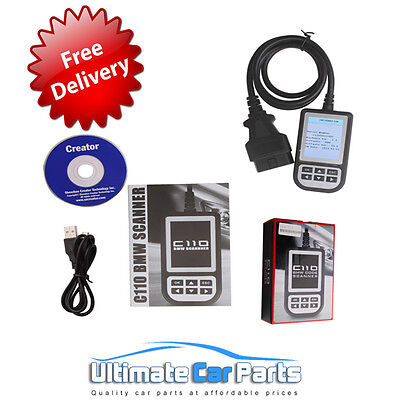 C110+ For BMW Scanner Engine Diagnostic Airbag ABS Fault Code Scan Tool Reader