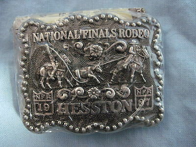 1987 HESSTON SMALL BELT BUCKLE Junior Youth ROPING National Finals Rodeo NEW
