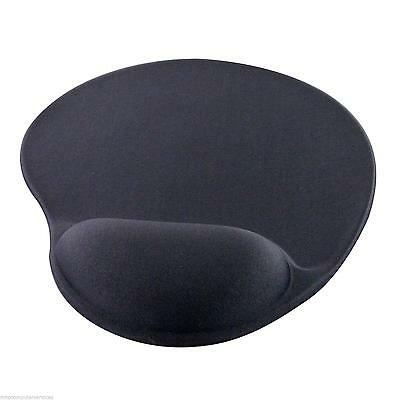 Gel Mouse Mat Black Fabric Luxury Gel Wrist Support