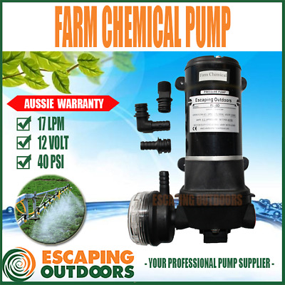 Agriculture Multiple Wand Weed Spray Pump 12 volt 17 L/min 40 PSI FL40C CHEMICAL