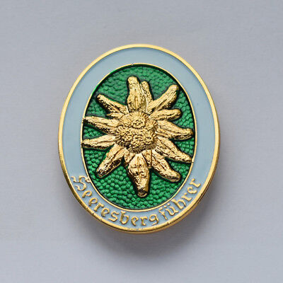 Ww2 German Edelweiss Mountain Division Officer Metal Badge-33202