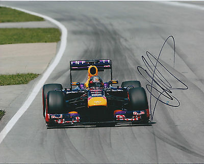 Sebastian Vettel SIGNED AUTOGRAPH World Champion Red Bull 10x8 Photo AFTAL COA