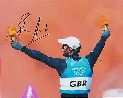 Ben AINSLIE Autograph 10x8 Signed Photo AFTAL COA 2012 Olympic Gold Medal Winner
