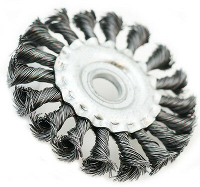 """4"""" circular Wire Brushes knotted Twist Style Wheels Grinding cleaner 5/8"""""""
