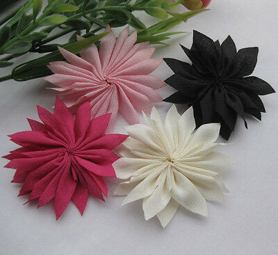 E168 100/20pcs UPick Fancy ribbon flower Daisy Appliques DIY Sewing Wedding Deco