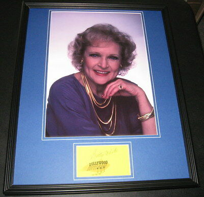 Betty White Signed Framed 16x20 Photo Display Golden Girls Hot in Cleveland B