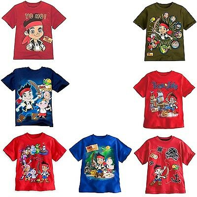 Disney Store Jake and the Never Land Pirates Short Sleeve T Shirt Boy 4 5/6 7/8