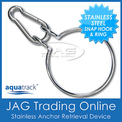 Stainless Steel Anchor Retriever Assist/retrieval Device System-Ring & Snap Hook