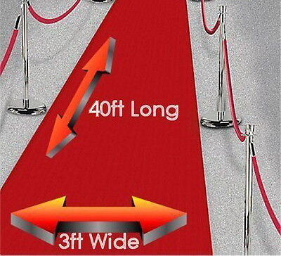Large 40ft Red Carpet Hollywood Party Decoration - Wedding Aisle Floor Runner