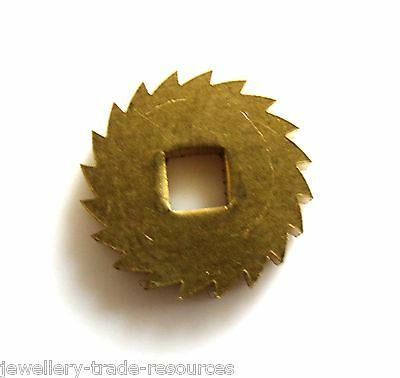 12mm Diameter REPLACEMENT BRASS CLOCK WINDING RATCHET WHEEL SPARES REPAIRS PARTS