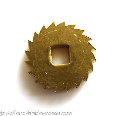 12mm REPLACEMENT BRASS CLOCK WINDING RATCHET WHEEL SPARES REPAIRS PARTS