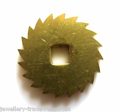 19mm REPLACEMENT BRASS CLOCK WINDING RATCHET WHEEL SPARES REPAIRS PARTS