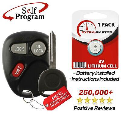 New Replacement Keyless Entry Remote Car Fob Transmitter & Key for 15042968