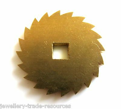 23mm REPLACEMENT BRASS CLOCK WINDING RATCHET WHEEL SPARES REPAIRS PARTS