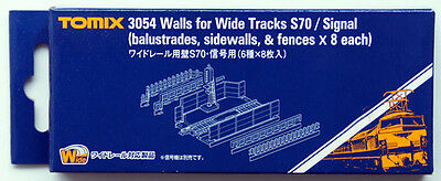Tomix 3054 Walls for Wide Tracks S70/Signal (N scale)
