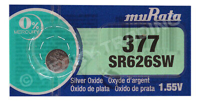 Genuine SONY 377 SR626SW Silver Oxide Watch Battery 1.55v [1-Pack]