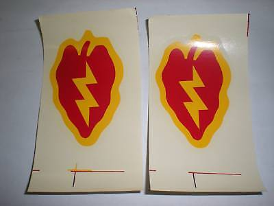 Us Army - 25Th Inf Division - M1 Decals - 1 Pair
