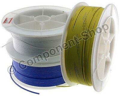 5 metres super flexible 24AWG Silicone Wire RED BLACK BLUE YELLOW and WHITE