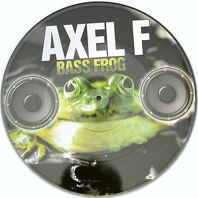 Picture Vinyl Bass Frog Axel F     Rare  Limited Edition