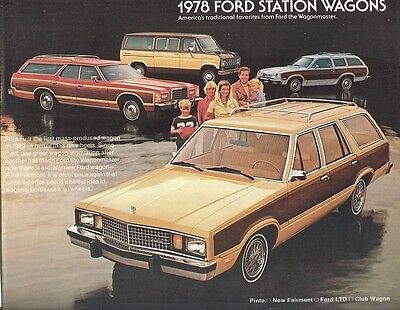 1978 Ford Station Wagon Brochure LTD/Fairmont/Pinto +++
