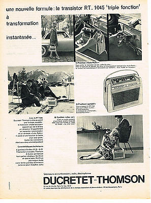 PUBLICITE ADVERTISING 0314   1959   DUCRETET-THOMSON   transistor RT 1045  tripl