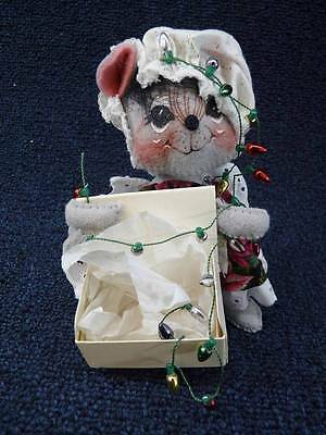 """Annalee Doll - 1998 Mouse Hanging Christmas Lights 6"""" (b154)"""