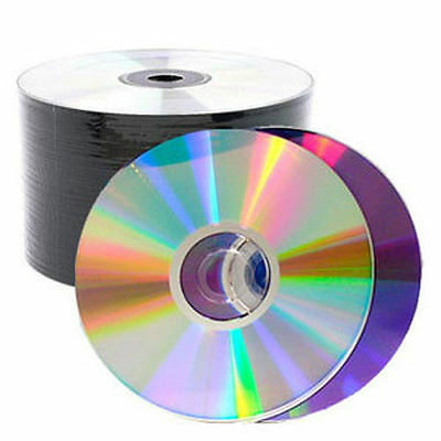 100 Pieces Silver Shiny Top 16X Blank DVD-R DVDR Disc Media 4.7GB (50*2)