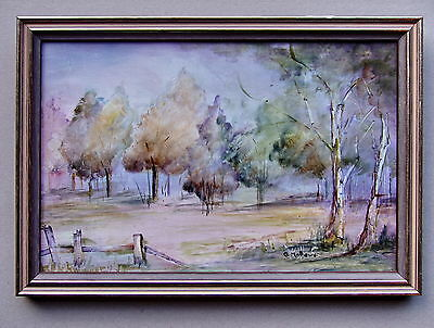 E.MATHEWS Landscape On Tile Framed