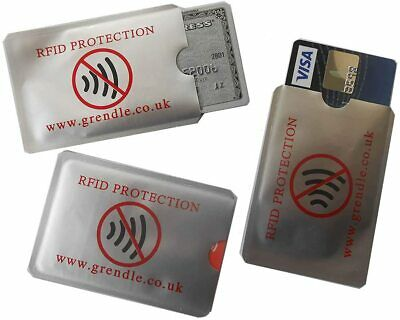 3 x  RFID BLOCKING OYSTER CREDIT DEBIT CARD ID THEFT PROTECTION SLEEVE HOLDER