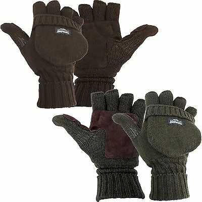 Thinsulate Lined Falher Shooting Hunting Mitts or  Fingerless Gloves