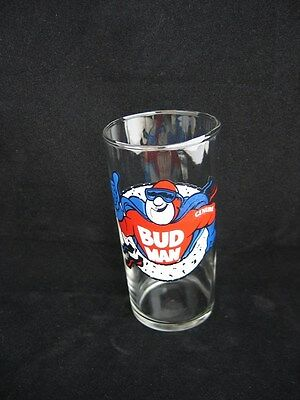 1991 Anheuser Busch Genuine Bud Man Glass - Thumbs Up