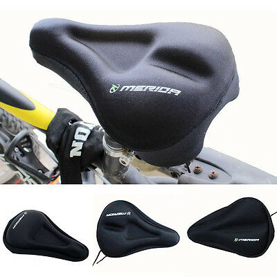 Cycling Bike Silicone Soft Pad Bicycle Saddle Case Silica Gel Cushion Seat Cover