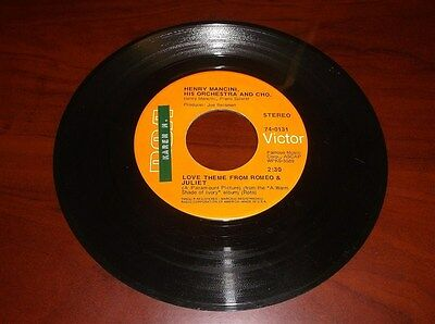 HENRY MANCINI 45 RECORD, THE WINDMILLS OF YOUR MIND, LOVE THEME ROMEO & JULIET