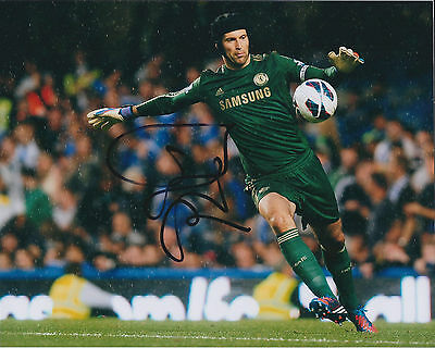 Petr CECH Signed Autograph 10x8 Photo AFTAL COA Chelsea Premier League Genuine