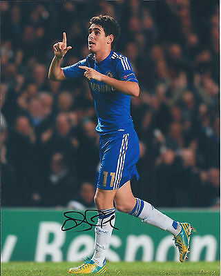 OSCAR Signed Autograph 10x8 Photo AFTAL COA Chelsea Premier League AUTHENTIC