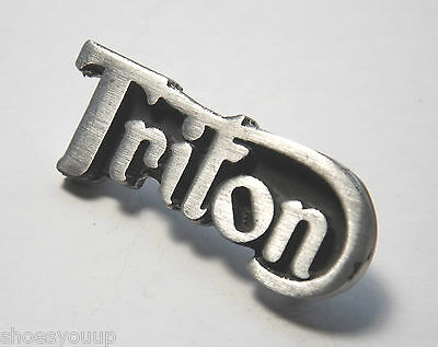 Triton Hand Made in the UK Pewter Lapel Pin Badge