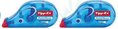 2 x Tipp-Ex Correction Roller Tape Tippex Wizard Mouse - Same Day Dispatch