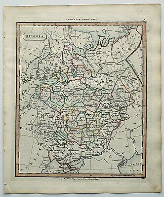 c1830 RUSSIA GENUINE HAND COLOURED MAP PUBLISHED BY J. SOUTER