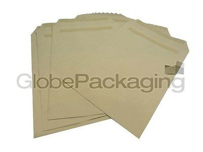 100 x C4/A4 Plain Manilla Self Seal Brown Envelopes SS 90gsm *OFFER*